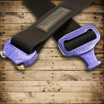 MASTER BELT (M) Purple HARD - purple/black